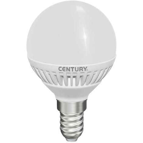Century Bombilla globo micro LED con esmerilado, 5W, tipo E14, 396 lumens, temperatura 3000ºK
