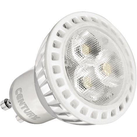 Century Foco LED de 4W, base GU10, 260 lumens, 3000 K de color, alto ahorro energético