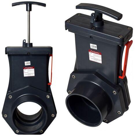 Cepex Zugschieber 110 mm Edelstahlspindel Kunsstoffplatte Top Qualität