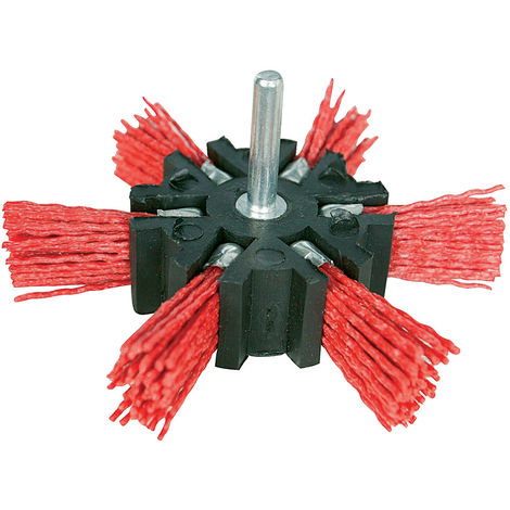 Cepillo abrasivo con filamentos de nylon Grueso, 100 mm - NEOFERR