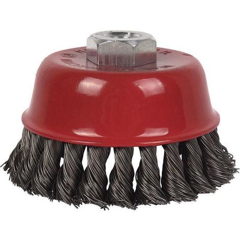 Cepillo Alambre Copa Trenzado M14 Acero