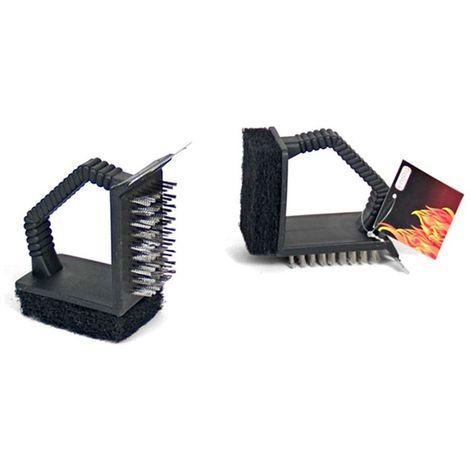 Cepillo barbacoas 3 funciones 12x5 cm