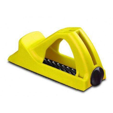 Cepillo Carpintero Surform Hoja 140Mm Corto Sintetico Amarillo Stanley