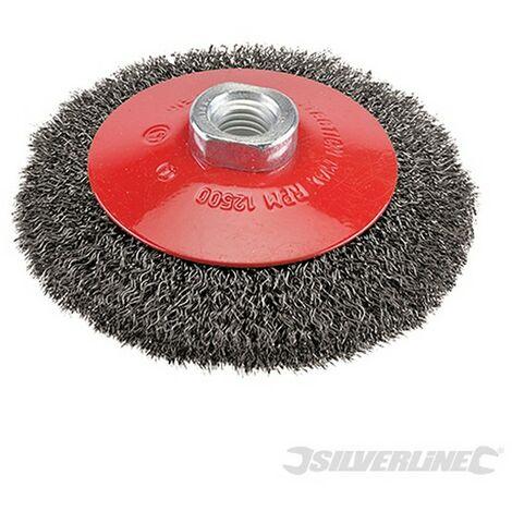 Cepillo circular de acero cardado (115 mm)