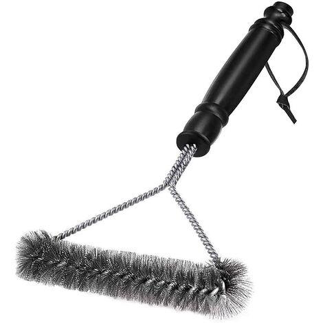 Cepillo de limpieza para barbacoa LangRay - Cerdas de acero inoxidable para una limpieza rápida y eficiente de todas las parrillas (30 cm)