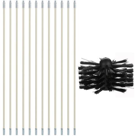 Cepillo de nylon, Kit de Herramientas tiene Ductos, varillas 12 + 1 cabeza del cepillo dental