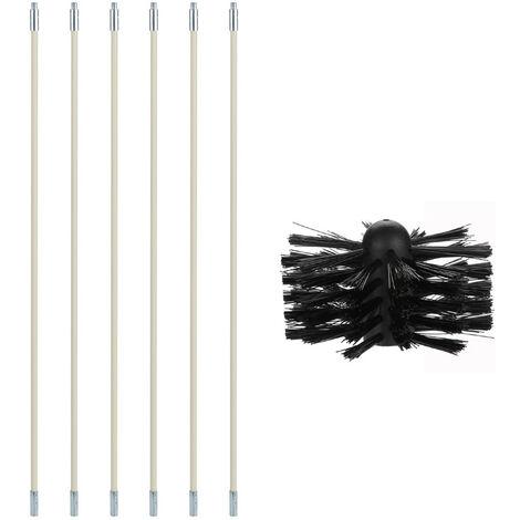 Cepillo de nylon, Kit de Herramientas tiene Ductos, Varillas 6 + 1 cabeza del cepillo dental