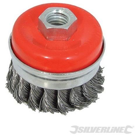Cepillo de vaso acero trenzado (65 mm)