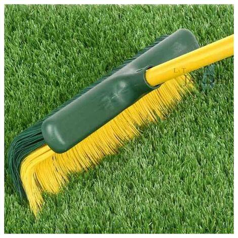 Cepillo extensible para barrer césped artificial y alfombras
