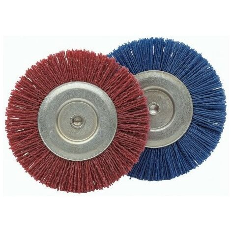Cepillo Industrial Circular Taladro 100 Mm Grano 180 Nylon Bellota