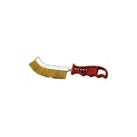 Cepillo 50806-a con mango puas acero latonado