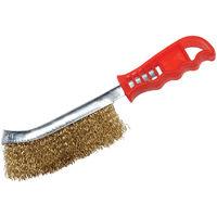 Cepillo metálico de acero latonado Latón