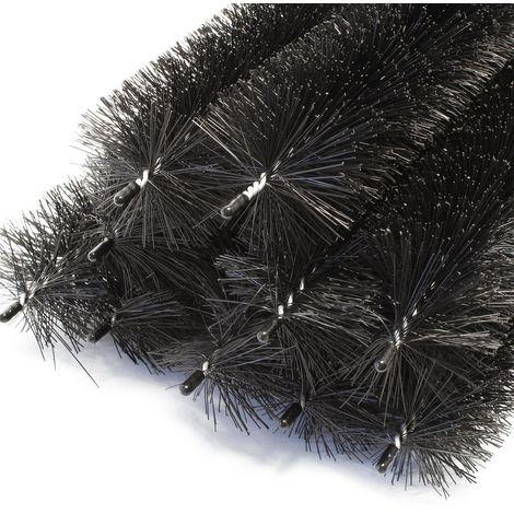 Cepillos anti nidos Protección paneles solares 12m Ø 19cm 10 Uds. Control nidos Ahuyentador pájaros