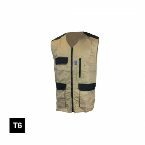 CEPOVETT Kargo pro light work vest - beige and black - Size 6