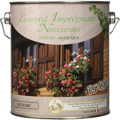 Cera Novecento 9146 Ecowood Impregnante, Incolore, 2.5 litri