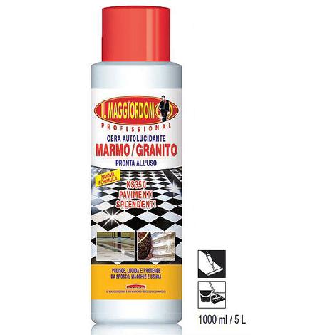 Cera pavimento KS350 autolucidante marmo granito trattamento antisdrucciolo usura 1Lt
