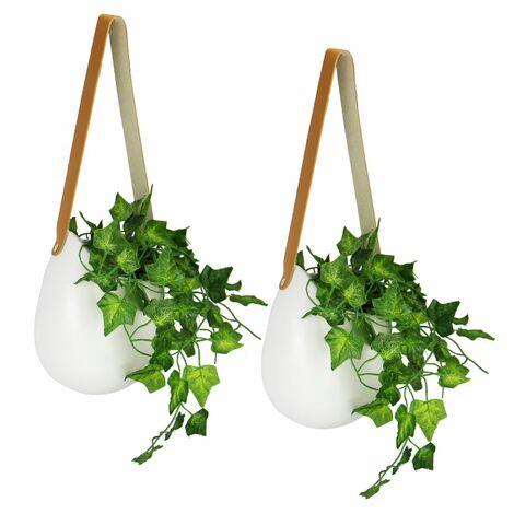 "main image of ""Ceramic Hanging Wall Planters - Set of 2   M&W"""