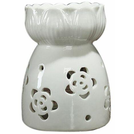 Ceramic Lotus Oil Burner Aromatherapy Wax Tealight Candle Holder (Style 5)