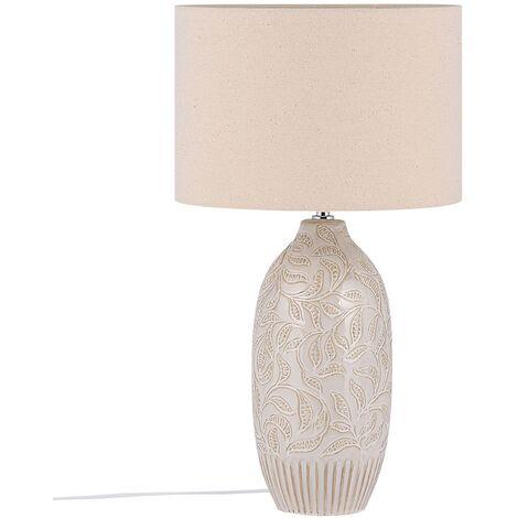 Ceramic Table Lamp Beige SALZA