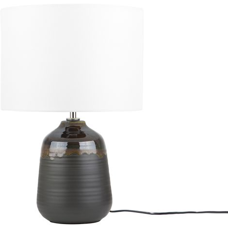 Ceramic Table Lamp Black DESNA