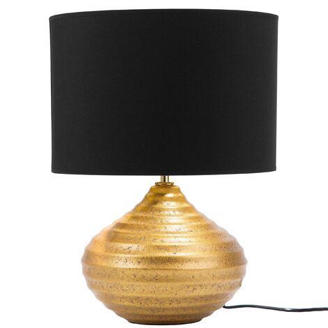 Ceramic Table Lamp Gold KUBAN