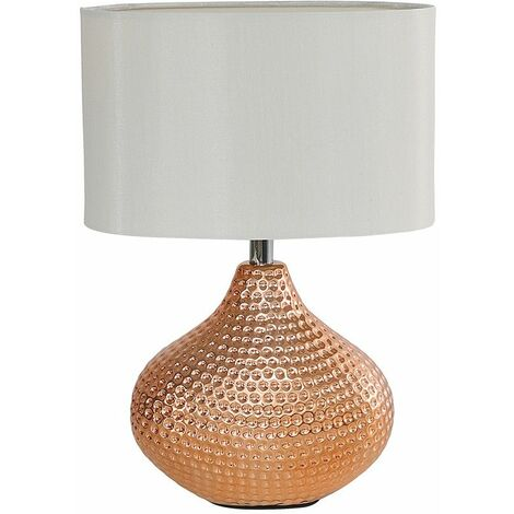 Ceramic Table Lamp Lampshade Light Chrome Copper Finish
