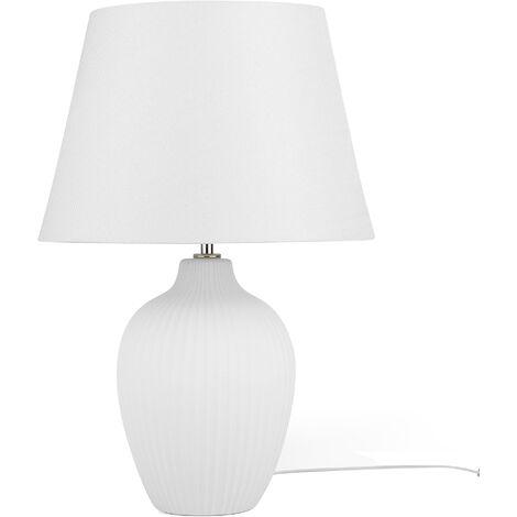 Ceramic Table Lamp White FERGUS