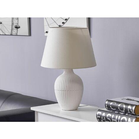 Ceramic Table Lamp White FERGUS II