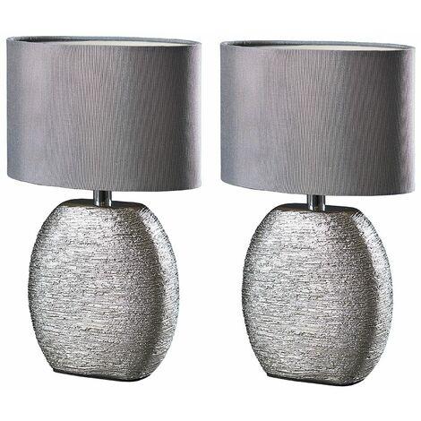 Ceramic Table Lamps Pair