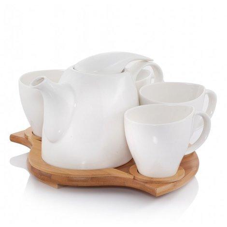 Ceramic Tea Set White EKKARA