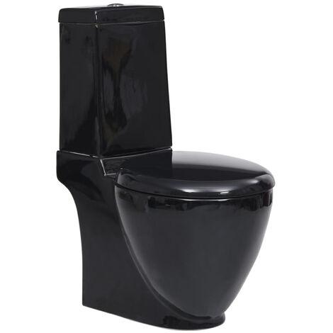 Ceramic Toilet Back Water Flow Black
