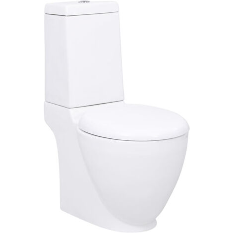 Ceramic Toilet Back Water Flow White
