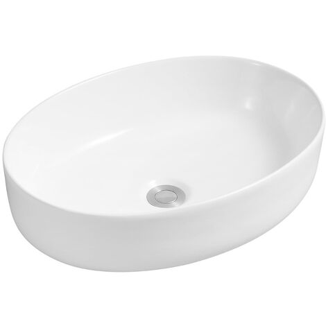 """main image of """"Ceramic Vert Round Countertop Basin in Marble - size - color Marble"""""""