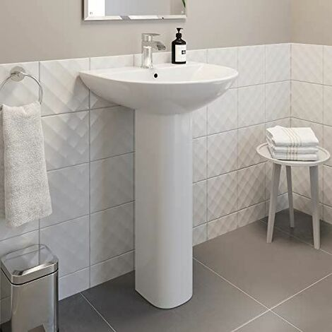Ceramica Arles Full Pedestal Bathroom Sink