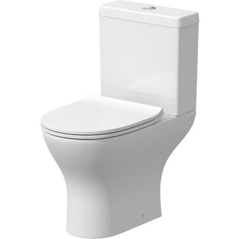 Ceramica Arles Space Saving Toilet - Luxury Thermoset Seat
