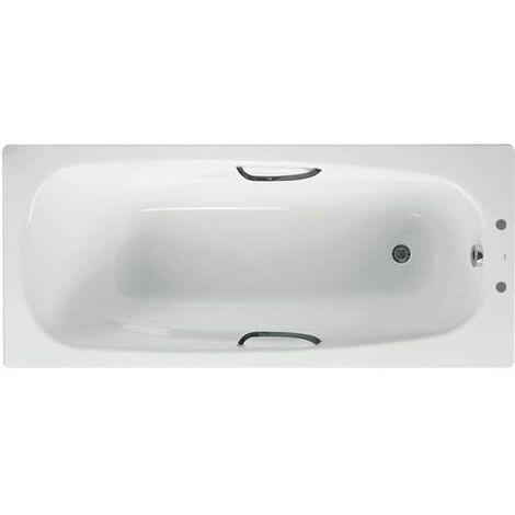 Ceramica Carla Steel Bath with Grip - 1600mm (Anti-Slip)