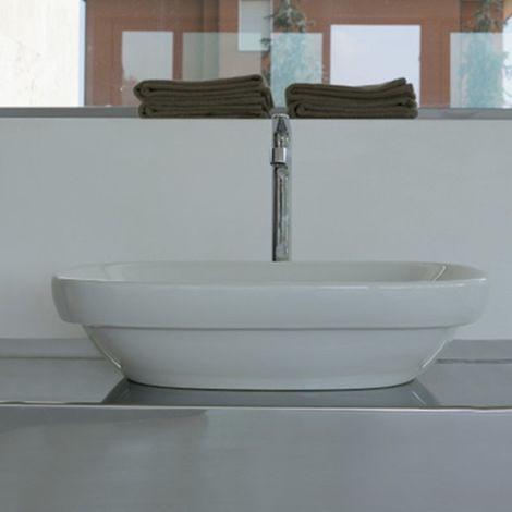 Ceramica Globo Genesis - Lavabo à poser 60x40 cm, en céramique blanc brillant (code GE042.BI)