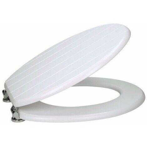 Ceramica Groove Matt White Toilet Seat