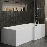 Ceramica L Shaped Shower Bath Side Panel 1700mm