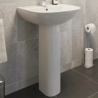 Ceramica Marseille Full Pedestal Bathroom Sink
