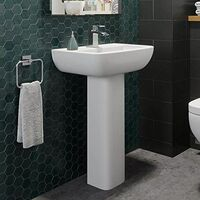 Ceramica Naples Full Pedestal Bathroom Sink