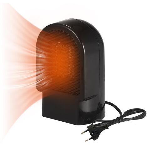 Ceramica portatil Calentador 500W Mini electrico Calentador PTC ventilador con Tip-Una y proteccion contra sobrecalentamiento 86 pies cuadrados rapida de calentar durante turistica de interior Suelo de la oficina Negro