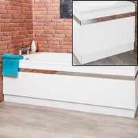 Ceramica Profile White 1700mm Side and 700mm End Bath Panel Pack