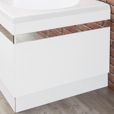 Ceramica Profile White Bath End Panel 700mm