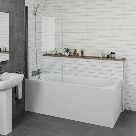 Ceramica Single Ended Curved Bath - 1600x700mm