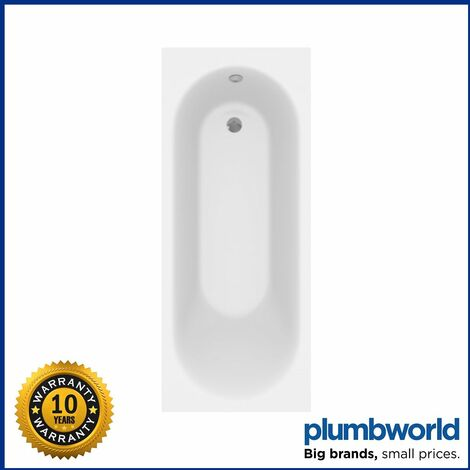 Ceramica Single Ended Curved Bath - 1700x700mm