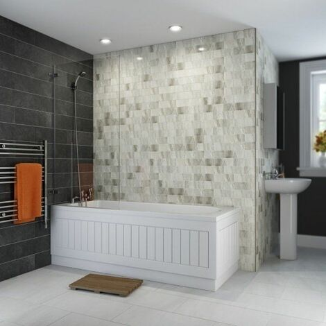 Ceramica Single Ended Curved Bath - 1800x750mm