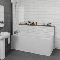 Ceramica Single Ended Curved Small Bath - 1500x700mm