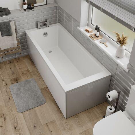 Ceramica Single Ended Square Small Bath - 1600x700mm