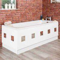Ceramica White Mirror Bath Panel 1700mm
